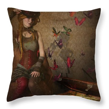 Packed To Go Throw Pillow by Veronica Ventress