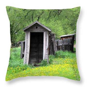 Pail Closet Virginia City Throw Pillow by Thomas Woolworth
