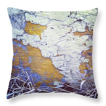 Painted Concrete Map Throw Pillow by Anna Villarreal Garbis