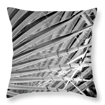 Palm Veils Throw Pillow by Leigh Meredith