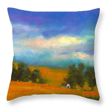 Palouse Wheat Fields Throw Pillow by David Patterson