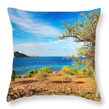 Panorama Island Throw Pillow by MotHaiBaPhoto Prints