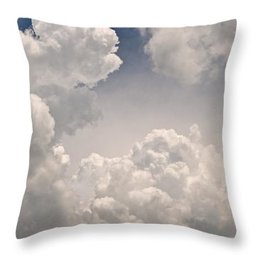 Panoramic Clouds Number 9 Throw Pillow by Steve Gadomski