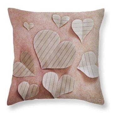 Papier D'amour Throw Pillow by Priska Wettstein