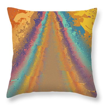 Parameter Space Mountain Throw Pillow by Mark Greenberg