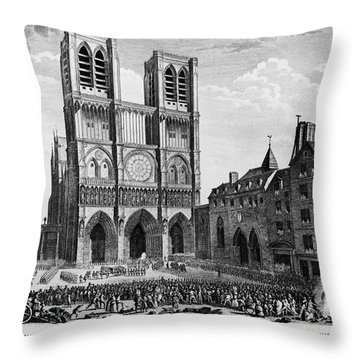 Paris: Notre Dame, 1790 Throw Pillow by Granger