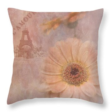 Parisian Oooo La La Throw Pillow by Betty LaRue