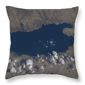 Part Of The Dead Sea And Parts Throw Pillow by Stocktrek Images