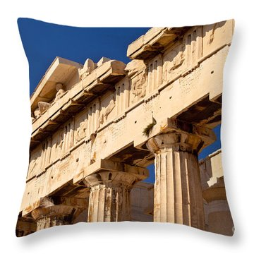 Parthenon Throw Pillow by Brian Jannsen