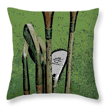 Pass Me The Hickory Throw Pillow by George Pedro