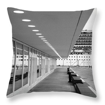 Passenger Terminal Throw Pillow by Gaspar Avila