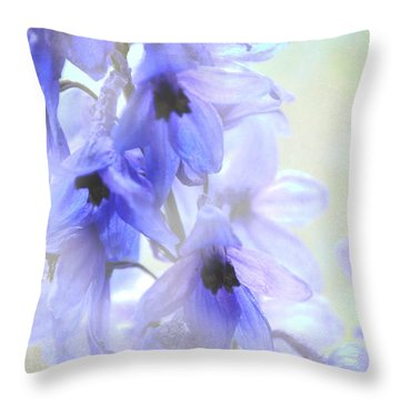 Passion For Flowers. Blue Dreams Throw Pillow by Jenny Rainbow
