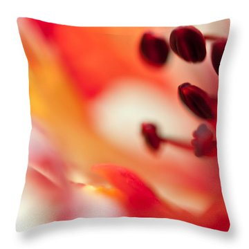 Passion For Flowers. Flamboyant Blossom  Throw Pillow by Jenny Rainbow