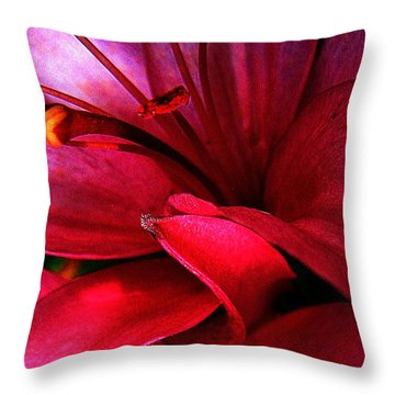 Passionate Lily Throw Pillow by Shirley Sirois