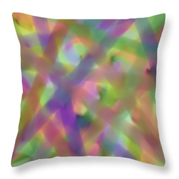 Pastel Beams Throw Pillow by Bonnie Bruno