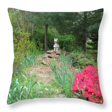 Path To The Dragon  Throw Pillow by Nancy Patterson
