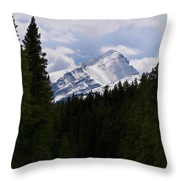 Peaking Peak Throw Pillow by Roderick Bley