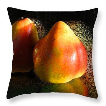 Pear Aura Throw Pillow by Michael Durst
