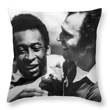Pele & Beckenbauer, C1977 Throw Pillow by Granger