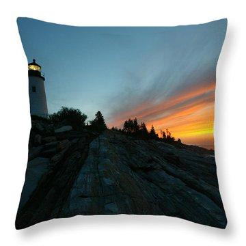 Pemaquid Throw Pillow by David Yunker