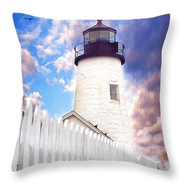 Pemaquid Point Throw Pillow by Darren Fisher