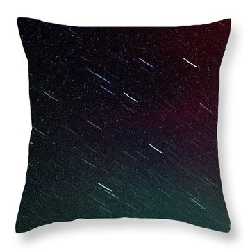 Perseid Meteor Shower Throw Pillow by Thomas R Fletcher