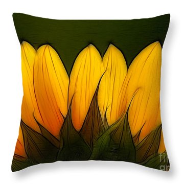 Petales De Soleil - A12 Throw Pillow by Variance Collections