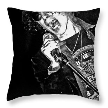 Peter Wolf Throw Pillow by Mike Martin