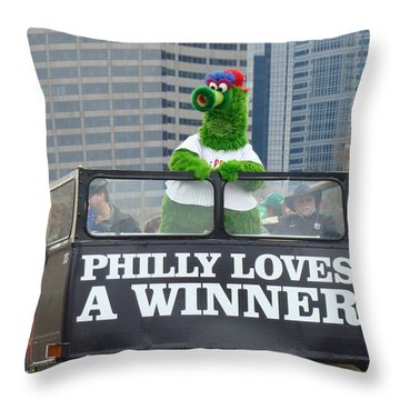 Philly Loves A Winner Throw Pillow by Alice Gipson
