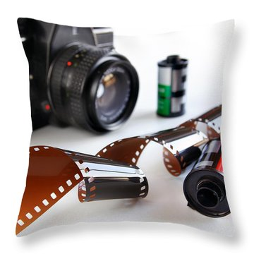 Photography Gear Throw Pillow by Carlos Caetano
