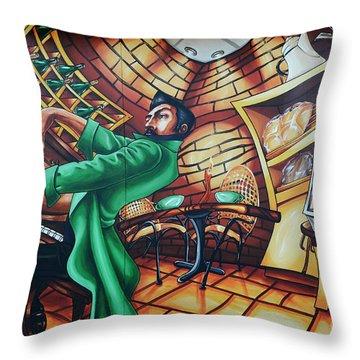 Piano Man 2 Throw Pillow by Bob Christopher