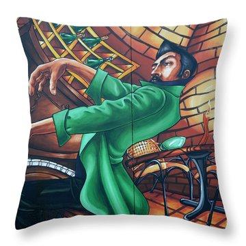 Piano Man 4 Throw Pillow by Bob Christopher