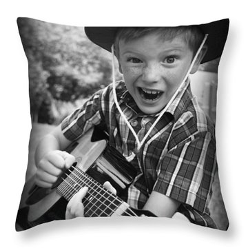 Pickin' Throw Pillow by Kelly Hazel