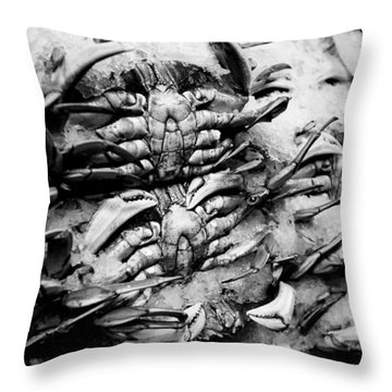 Pike Place Crab Throw Pillow by Tanya Harrison