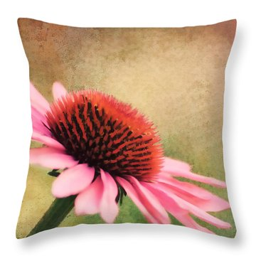Pink Beauty Throw Pillow by Darren Fisher
