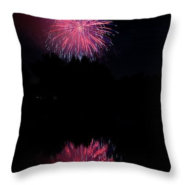 Pink Fireworks Throw Pillow by James BO  Insogna