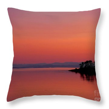 Pink Morn At Rock Point Throw Pillow by Gail Bridger