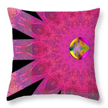 Pink Ribbon Of Hope Throw Pillow by Alec Drake