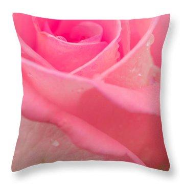 Pink Rose Throw Pillow by Atiketta Sangasaeng