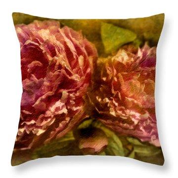 Piony Throw Pillow by Svetlana Sewell