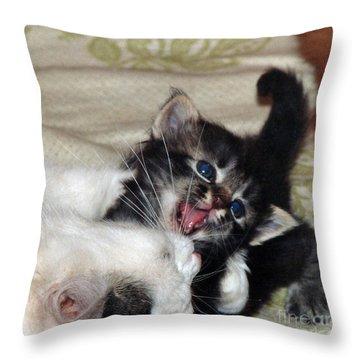 Playtime Throw Pillow by Ausra Huntington nee Paulauskaite