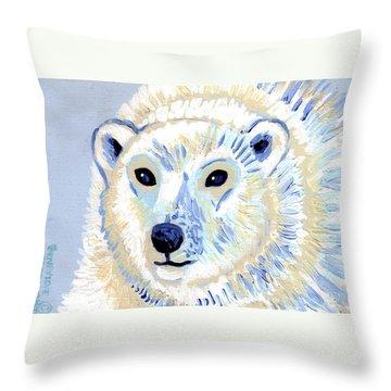 Polar Bear Throw Pillow by Genevieve Esson