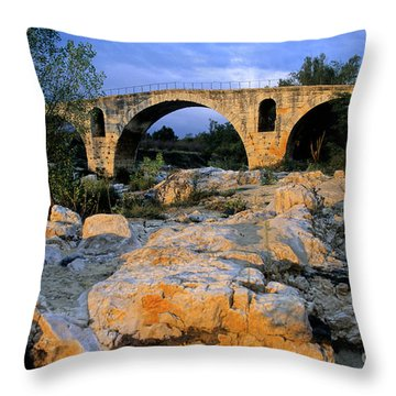 Pont Julien. Luberon. Provence. France. Europe Throw Pillow by Bernard Jaubert