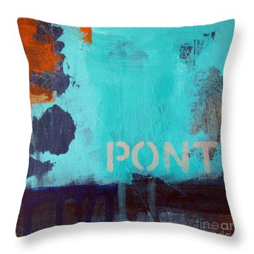 Ponte Throw Pillow by Linda Woods