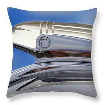 Pontiac Hood Ornament  Throw Pillow by Mike McGlothlen