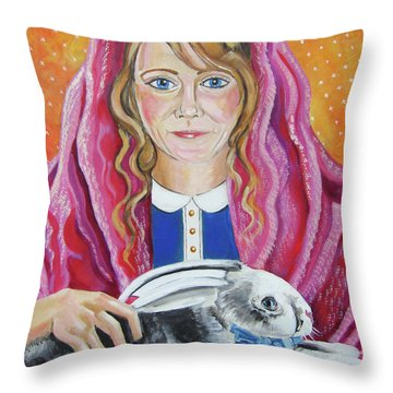 Portrait Of Ashley Throw Pillow by John Keaton