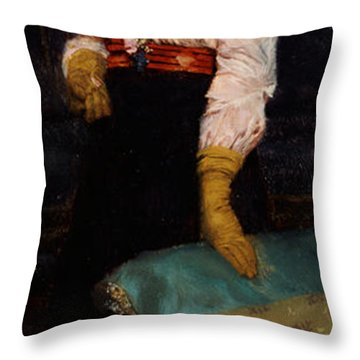 Portrait Of Miss Macwirter Throw Pillow by Sir Lawrence Alma-Tadema