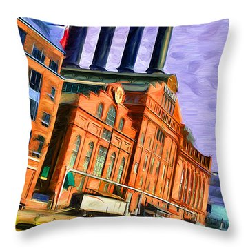 Power Plant Throw Pillow by Stephen Younts