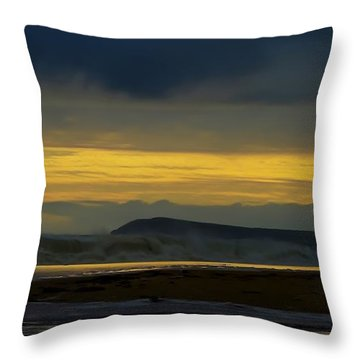 Powlett River On A Stormy Morning Throw Pillow by Blair Stuart