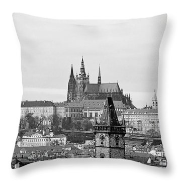 Prague - City Of A Hundred Spires Throw Pillow by Christine Till